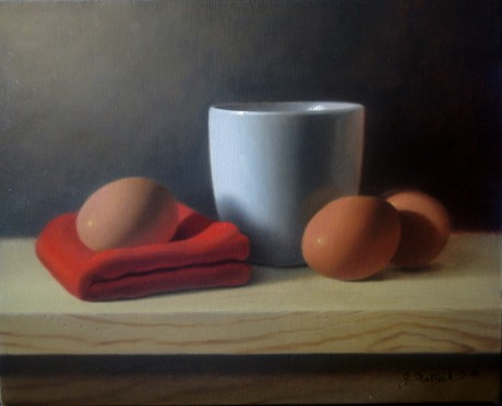 egg on red