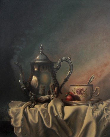 Morning tea - Olej 40 x 50 cm