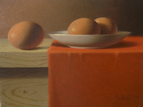 Still life with three eggs n.1