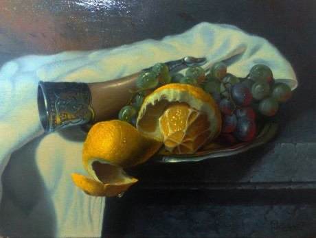 Still life with lemon n.3  30 x 40 cm